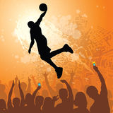 Basketball dunk grunge design Royalty Free Stock Images
