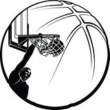 Basketball Dunk Silhouette Royalty Free Stock Image