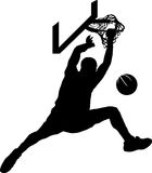 Basketball Dunk Silhouette Royalty Free Stock Photos