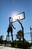 Basketball Dunker Silhouette Royalty Free Stock Images