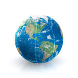 Basketball Earth on white background Royalty Free Stock Photo