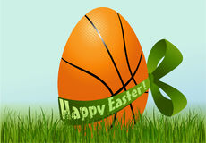 Basketball Easter egg Stock Photography