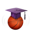 Basketball and education. Royalty Free Stock Images