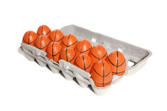 Basketball-Eier Stockbild
