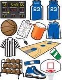 Basketball-Einzelteile Lizenzfreie Stockfotos