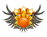 Basketball Emblem. Computer illustration, isolated on the white Royalty Free Stock Images