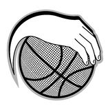 Basketball emblem Stock Image