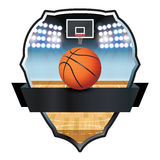 Basketball Emblem Badge Illustration Stock Photos