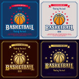 Basketball emblem. Royalty Free Stock Image