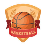 Basketball emblem.Basketball single icon in cartoon style vector symbol stock illustration web. Royalty Free Stock Photos