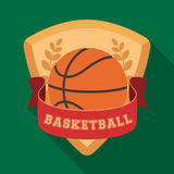 Basketball emblem.Basketball single icon in flat style vector symbol stock illustration web. Royalty Free Stock Photo
