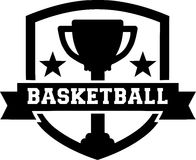 Basketball Emblem Design Cup Royalty Free Stock Photography