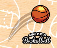 Basketball emblem Stock Images