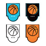 Basketball Emblem Icons Set Royalty Free Stock Image