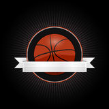 Basketball emblem Royalty Free Stock Image