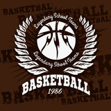 Basketball emblem for T-shirts, Posters, Banners Royalty Free Stock Photo