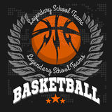 Basketball emblem for T-shirts, Posters, Banners Stock Photography