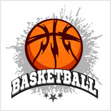 Basketball emblem for T-shirts, Posters, Banners Royalty Free Stock Image