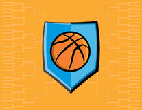 Basketball Emblem and Tournament Background Royalty Free Stock Photo