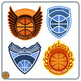 Basketball emblems Stock Image