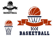 Basketball emblems and symbols Royalty Free Stock Photography