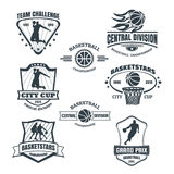Basketball emblems Royalty Free Stock Photos
