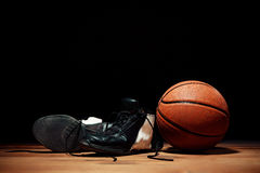 The basketball equipment Stock Image