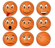 Basketball face Royalty Free Stock Photography