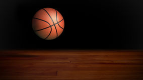 Basketball falling 1 Stock Photo