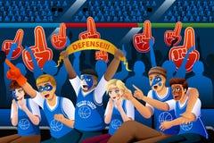 Basketball-Fans, die innerem Stadion zujubeln vektor abbildung