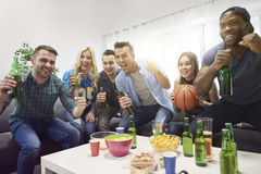 Basketball fans Royalty Free Stock Photo