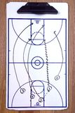 Basketball Fast Break Diagram Royalty Free Stock Photo