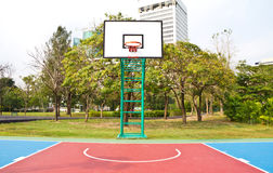 Basketball field. Basketball field in the park Stock Photos