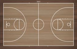 Basketball field for background. Basketball court with line pattern. Basketball field for background. Top view of basketball court with line pattern area Royalty Free Stock Image