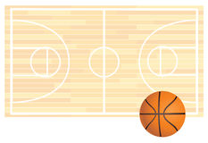 Basketball Field Background Stock Photo