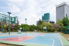 Basketball field Stock Image