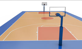 Basketball field. Close-up. 3d render image Royalty Free Stock Photography