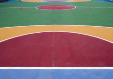 Basketball field. A Colorful outdoor basketball field Royalty Free Stock Images