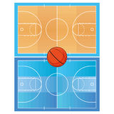 Basketball Field  Isolated On White Background Stock Image