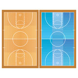 Basketball Field  Isolated On White Background. Vector Basketball Field  Isolated On White Background Stock Photography