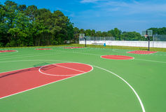 Basketball field. Outdoor basketball field at sunny day Stock Image
