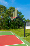 Basketball field. Outdoor basketball field at sunny day Stock Photography