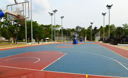 Basketball field. A basketball field in a park Stock Photography