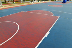Basketball field. A basketball field in a park Royalty Free Stock Photos