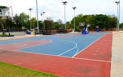 Basketball field. A basketball field in a park Stock Photo