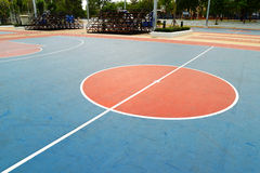 Basketball field. A basketball field in a park Royalty Free Stock Photo