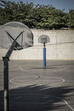 Basketball field in a public park in Spain Royalty Free Stock Photos