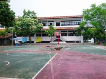 Basketball field. At school Stock Photography