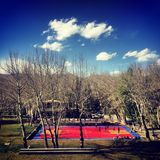 Basketball field. The basketball field in Tibet Royalty Free Stock Photography