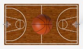 Basketball field Royalty Free Stock Photos